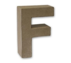 1929 3106- stevige decoratie letter van papier mache - 3D letter F
