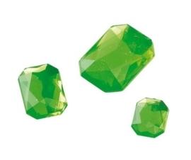 2282 445- 80 x kunststof strass stenen assortiment rechthoeken van 8/10/13mm l.groen