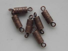 8mm draai- schroefsluitingen 6 stuks koperkleur  -  11808/1213