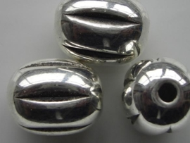 metalen kralen verzilverd 22x18mm 117465/0629
