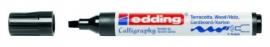 CE391455/5046- Edding-1455 kalligrafie marker flexibel punt 1-5mm zwart