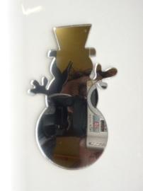 006000C- zelfklevend spiegeltje ca. 6x9.5cm sneeuwman OPRUIMING