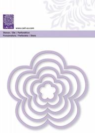 1856 0148- Cart-Us stans- & embossingmal frames bloemen  tot 107mm