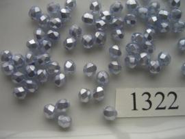 30 stuks tsjechische kristal facet geslepen glaskralen licht lila 5mm 1322