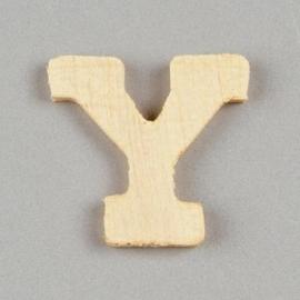 006887/1449- 2cm houten letter Y