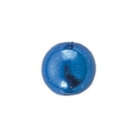 25 x ronde waxparels in een doosje 8mm blauw - 6069 371