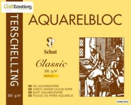 CE114985/1824- 20 vel Schut Terschelling aquarelbloc classic 300grams 18x24cm