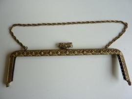 55- tasbeugel met ketting 22cm bronskleur