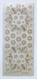 St751- Leane vlok stickers parelmoer zilver goud 10x23cm - 1210011/2423