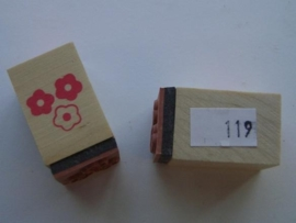 "119 - ""MEEPAKKER"" opruiming stempel 2x2cm"