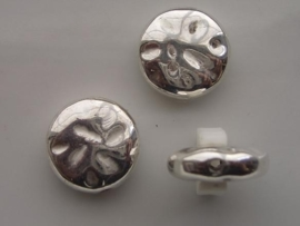 metalen kralen verzilverd 20x5mm 117465/0632