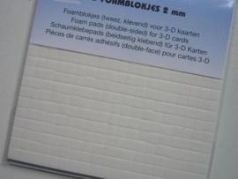 foamtape blokjes 2mm dik (standaard dikte)