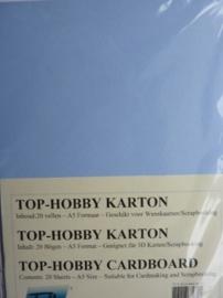 19- 20 vellen kaartkarton A5 formaat voor dubbele kaarten ca.225grams lavendel blauw