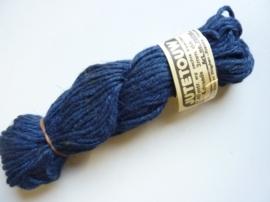 000408- 100gram jute touw 4-draads 3mm dik donkerblauw