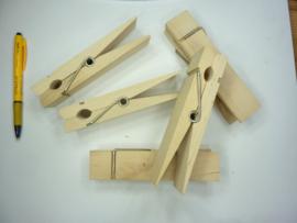 KN8735 574- 1 x houten jumbo XXL wasknijpes 15x3.5cm