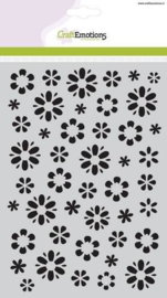 CE185070/1105- Craft emotions mask stencil fantasie bloem A5