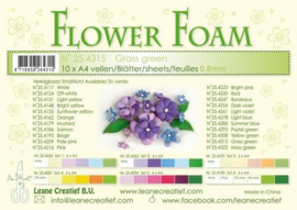 CE800205/4315- 10 sheets flower foam sheets A4 - grasgroen