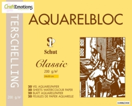 CE114986/2430- 20 vel Schut Terschelling aquarelbloc classic 200grams 24x30cm