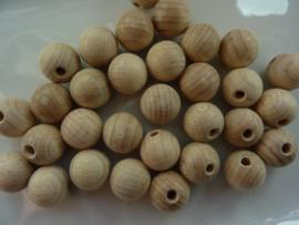 15mm ronde houten kralen