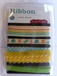 "5692- Cosmo cricket ribbons setje ""Jacks world"" OPRUIMING"