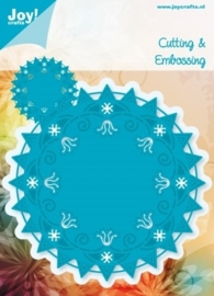 JOY6003/1001- Joy! crafts Noor design cutting & embossing stencil rond nr.1