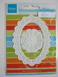 0002438- Marianne Design Craftables stencil kader en bloemen 11x8cm - OPRUIMING