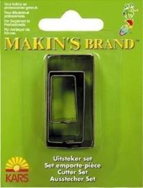 CE117918/6004- Makin`s clay uitsteker rechthoek 2-4 cm.