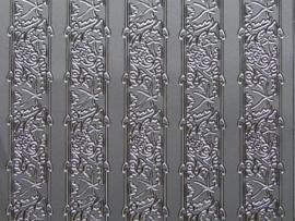 st 255- randje breed zilver 10x20cm