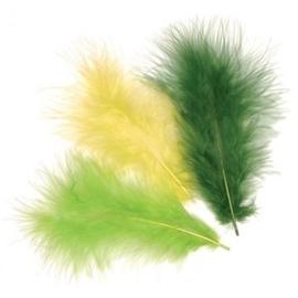 006619/0943- 15 stuks verenmix maraboe groen/geel van 10cm