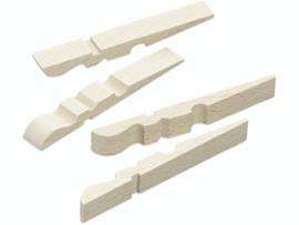 KN8735 684- 100 stuks halve houten knijpers 72x10mm