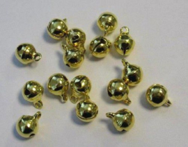 4212 - 16 stuks belletjes van 8 mm. goudkleur