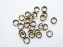 25 x dubbele ringetjes 5mm geelbrons - SUPERLAGE PRIJS!