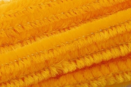 8476 063- 10 stuks chenille draad van 50cm lang en 8mm breed maisgeel