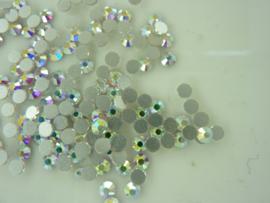 000609- ruim 100 kristalsteentjes SS12 3.5mm zilver AB - SUPERLAGE PRIJS!