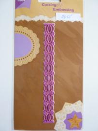 0002455- Joy Crafts stencil sierrand 15x1.7cm OPRUIMING