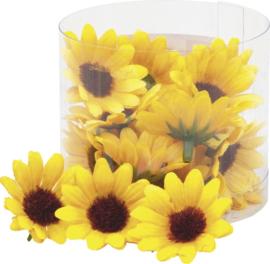 KN216509 745- 22 stuks zonnebloemen van 3.5cm in een doosje