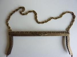48- tasbeugel met ketting 22cm bronskleur