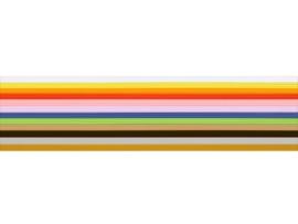 8306 062 - 36 x versierwas stroken 1mm regenboog