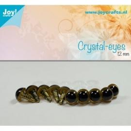 Joy6300/0603- 10 stuks kristal ogen 12mm beige
