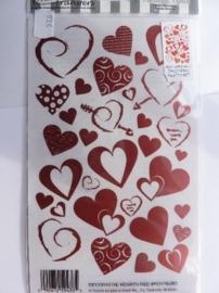 5781- EZ rub-on transfers harten/valentijn/liefde 24x14.5cm OPRUIMING