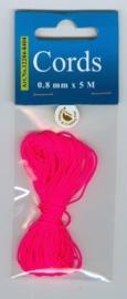 CE442000/8404- 5 meter knoopkoord / shamballa koord van 0.8mm dik neon roze