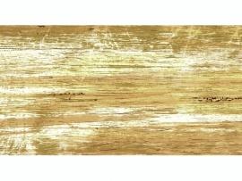KN218301443- kaarsen versierwas plaatje 17.5x8cm goud/oranje