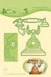 CE115645/3028- Le Crea Lea'bilitie snij- & embossingmal vintage telephone