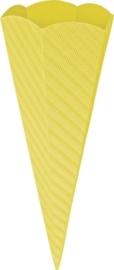 KN204869910- 5 stuks XL puntzakken van golfkarton met reliëf 41cm geel