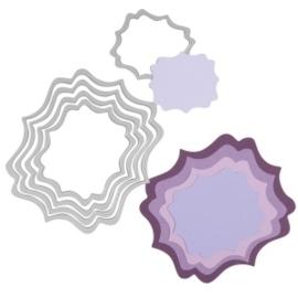 CE115665/7575- Sizzix famelits die set by Stephanie Barnard fancy labels