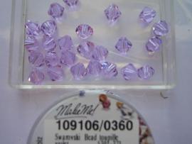 109106/0360 - 25 x swarovski 6mm violet