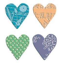 115639/7123- cuttlebug comboset textile hearts