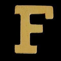 8735 612- 4cm houten letter F