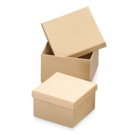 8735 774- 2 stuks ecoshape vierkante dozen set 11.5x11.5x7.5cm & 10x10x8.8cm