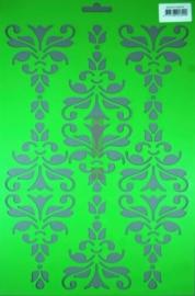 JOY6002/0902- Joy! crafts embossing achtergrondstencil template A4 formaat barok